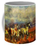 Horses On The Gogh Coffee Mug