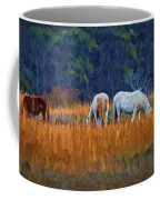 Horses On The March Coffee Mug