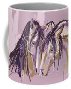 horses Purple pair Coffee Mug