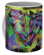 Horses Together In Colour Coffee Mug