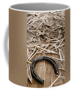 Horseshoe On Barn Floor Coffee Mug