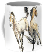 Horsing, 2013 Watercolour And Pigment On Paper Coffee Mug