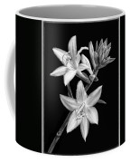 Hosta Flowers In Black And White Coffee Mug