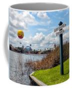 Hot Air Balloon And Old Key West Port Orleans Signage Disney World Coffee Mug