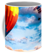 Hot Air Balloon And Powered Parachute Coffee Mug by Bob Orsillo