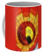 Hot Air Balloon Bottoms Up Photo Art Coffee Mug