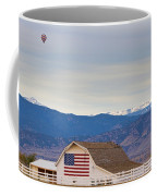 Hot Air Balloon Boulder Flag Barn And Eldora  Coffee Mug