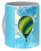 Hot Air Balloon Checkerboard Coffee Mug