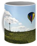 Hot Air Balloon In The Farmlands Coffee Mug