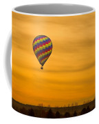 Hot Air Balloon In The Golden Sky Coffee Mug