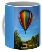 Hot Air Balloon Woodstock Vermont Coffee Mug by Edward Fielding