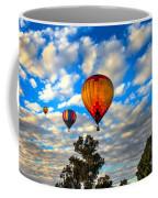 Hot Air Balloons Over Trees Coffee Mug