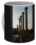 Hot Barcelona Afternoon - Magnificent Columns And Brilliant Sun Flares Coffee Mug