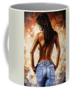 Hot Jeans 02 Blue Coffee Mug