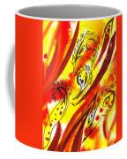 Hot Moving Lines And Dots Abstract Coffee Mug