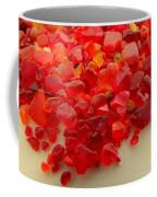 Hot Orange Beach Glass Coffee Mug