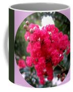 Hot Pink Crepe Myrtle Blossoms Coffee Mug
