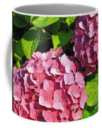 Hot Pink Hydrangea Coffee Mug