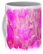 Hot Stuff   In Your Face Pink Tulips Coffee Mug