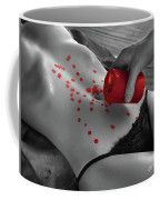 Hot Wax Foreplay With Red Candle Coffee Mug