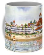 Hotel Del Coronado From Ocean Coffee Mug by Mary Helmreich