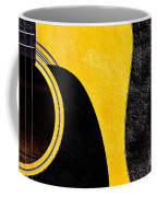 Hour Glass Guitar 4 Colors 1 - Tetraptych - Yellow Corner - Music - Abstract Coffee Mug