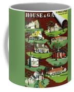 House & Garden Cover Illustration Of 9 Houses Coffee Mug