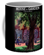 House & Garden Cover Illustration Of A Gardener Coffee Mug