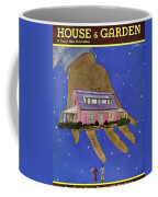 House & Garden Cover Illustration Of A Giant Hand Coffee Mug
