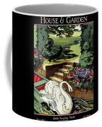 House & Garden Cover Illustration Of A Swan Coffee Mug