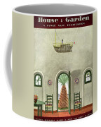 House And Garden Interior Decoration Number Cover Coffee Mug