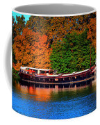 House Boat River Barge In France Coffee Mug