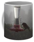 House Finch In The Fog Coffee Mug