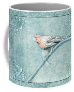 House Finch With Colored Sketch Effect Coffee Mug