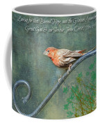 House Finch With Verse Coffee Mug