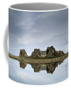 House In Between Rocks Reflected Coffee Mug