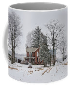 House In Winter Coffee Mug