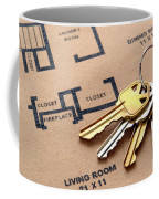 House Keys On Real Estate Housing Floor Plans Coffee Mug by Olivier Le Queinec