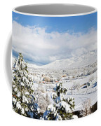 Houses And Trees Covered With Snow Coffee Mug