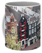 Houses In Amsterdam From Above Coffee Mug