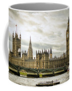Houses Of Parliament On The Thames Coffee Mug