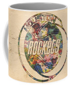 Houston Rockets Vintage Poster Coffee Mug