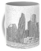 Houston Skyline Abstract Coffee Mug