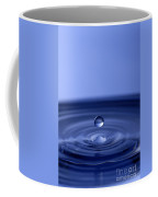 Hovering Blue Water Drop Coffee Mug by Anthony Sacco