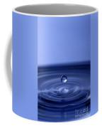 Hovering Blue Water Drop Coffee Mug