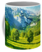 How Green Was My Valley Coffee Mug by Ayse Deniz