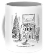 How Much Of A Gratuity Does Santa Usually Get? Coffee Mug
