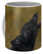 Howling Gray Wolf Pup Endangered Species Wildlife Rescue Coffee Mug