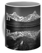1m3643-bw-howse Peak Mt. Chephren Reflect-bw Coffee Mug