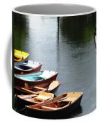 Hoyt Lakes Rowboats In Delaware Park Buffalo Ny Oil Painting Effect Coffee Mug